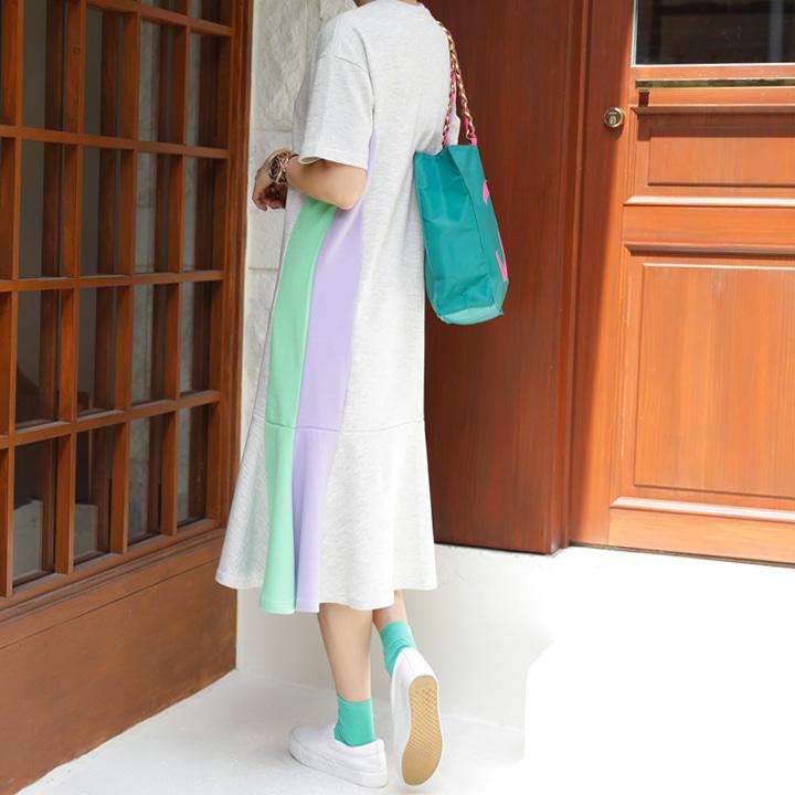 lemite-매일입어요 배색원피스♡韓國女裝連身裙