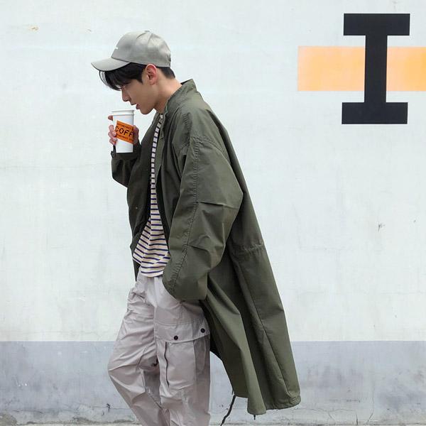 tomonari-토모나리(TOMONARI) [오버핏 개파카 야상자켓]♡韓國男裝外套
