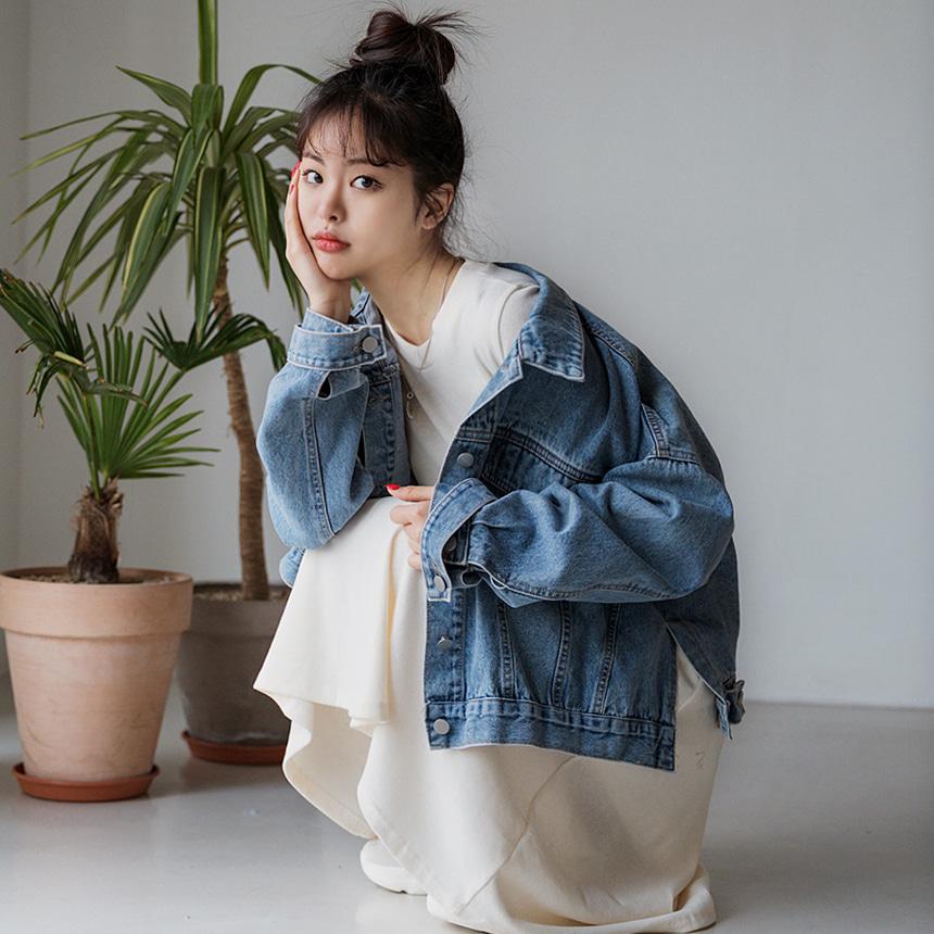 envylook-[22XX]유닉스트랩데님자켓♡韓國女裝外套