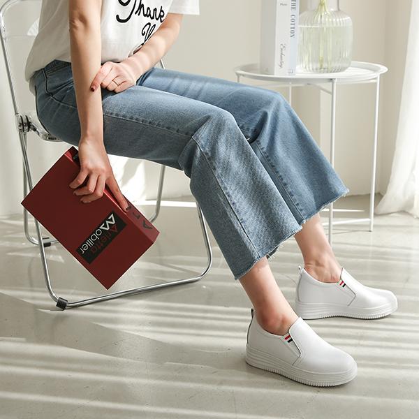 canmart-[라멜가죽키높이슬립온 C031814]♡韓國女裝鞋