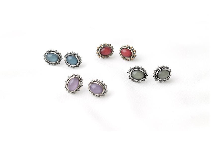 be-witch-[92.5실버침] 앤티크 컬러 earring♡韓國女裝飾品