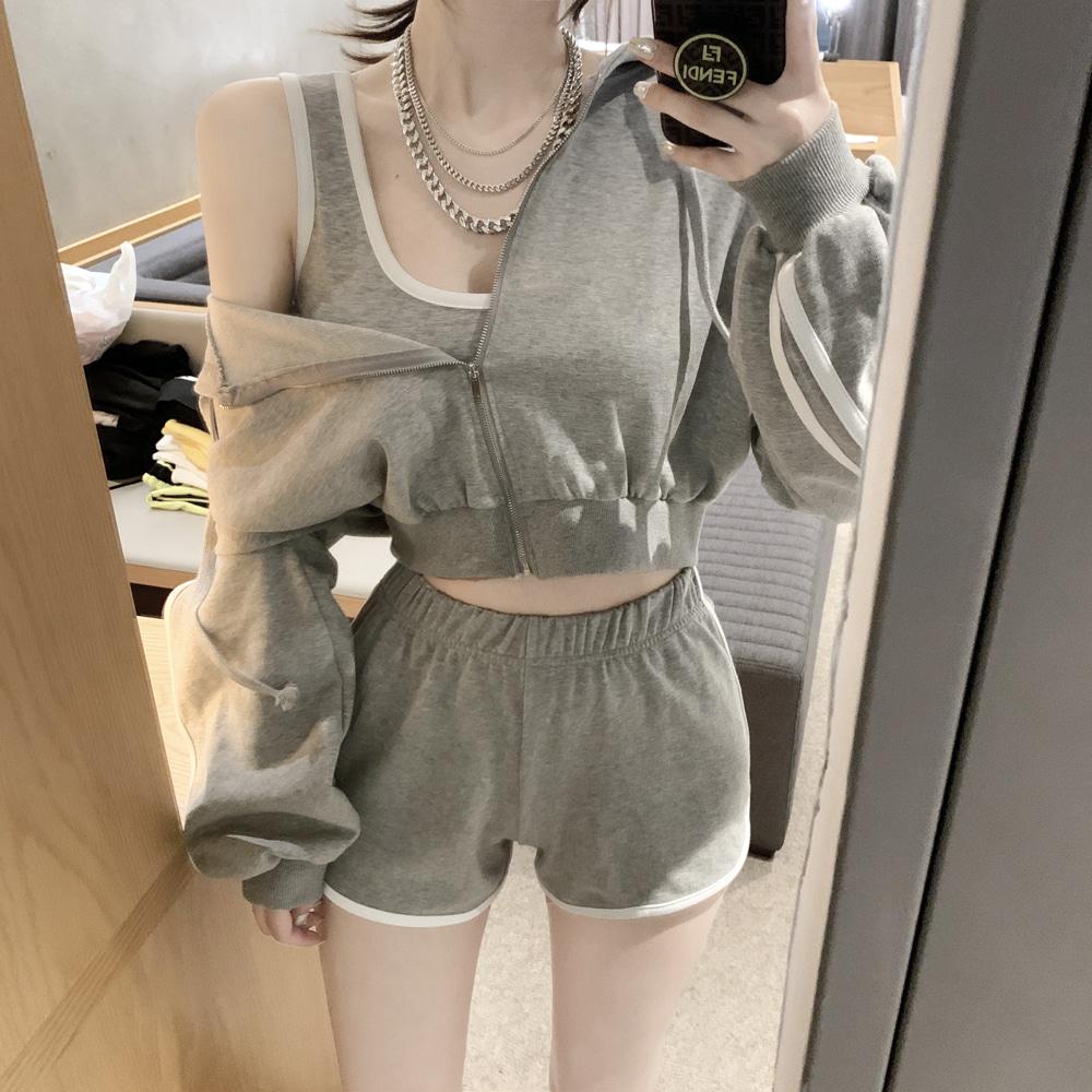 uinme-(후드+팬츠) 욜로 트레이닝 SET - [ 2color ]♡韓國女裝套裝