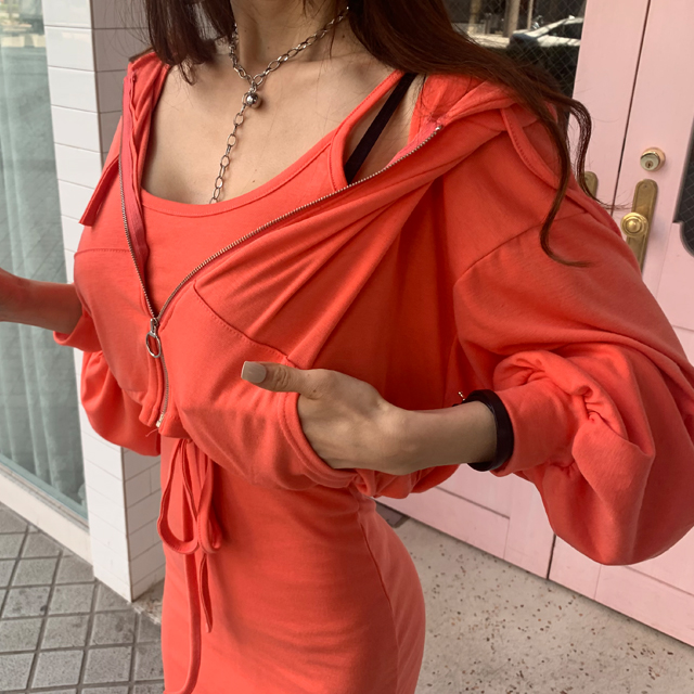 iampretty-[[9505]세이유 크롭집업 나시SET]♡韓國女裝套裝