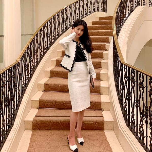 benito-오늘만 이 가격 디엘라 트위드 스커트 (화이트)♡韓國女裝裙