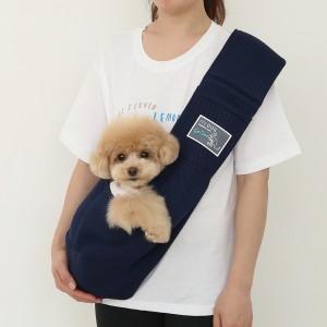 itsdog-[캥거루 메쉬 슬링백 (네이비)]♡寵物散步帶用品