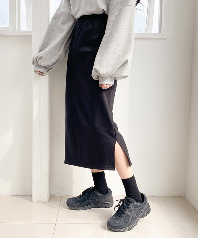 sonyunara-사이드트임롱스커트♡韓國女裝裙