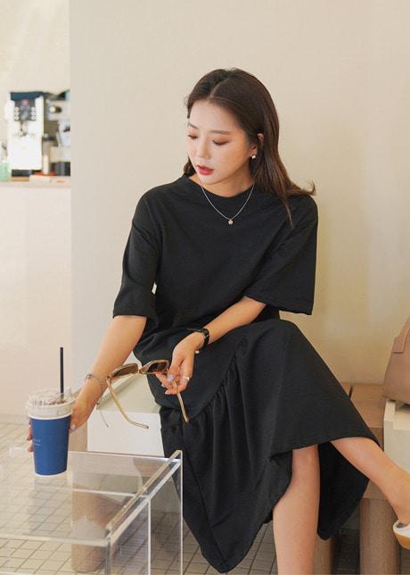 loloten-밑단프릴 롱원피스♡韓國女裝連身裙