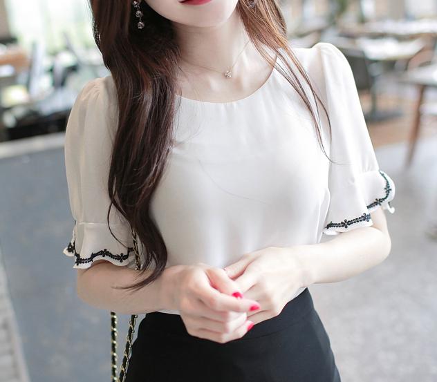 myfiona-영롱소매라인*blouse/m8697♡韓國女裝上衣