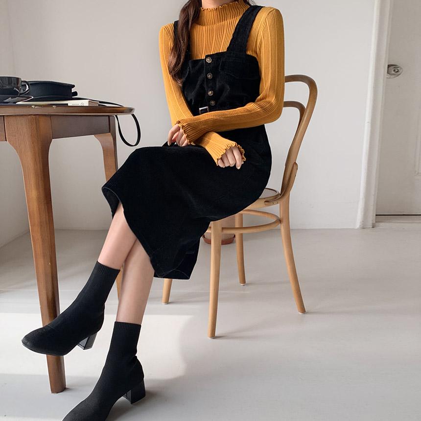 envylook-벨트코듀로이원피스♡韓國女裝連身裙