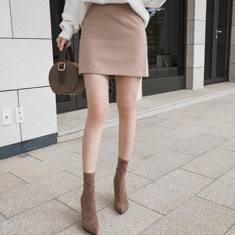 attrangs-sk2984 부드러운 피치기모소재의 베이직 데일리 미니멀 스커트 skirt♡韓國女裝裙