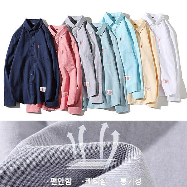 tomonari-토모나리(TOMONARI) [스프링 파스텔톤 옥스포드 셔츠]♡韓國男裝上衣