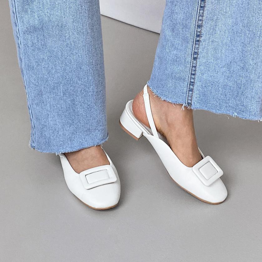 sappun-느엘리 슬링백 플랫슈즈 (4cm)♡韓國女裝鞋
