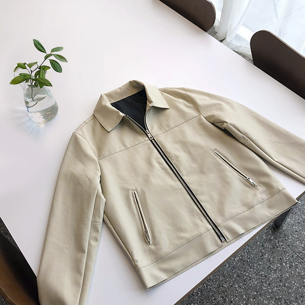 tomonari-토모나리(TOMONARI) [스티블 카라 레더자켓]♡韓國男裝外套