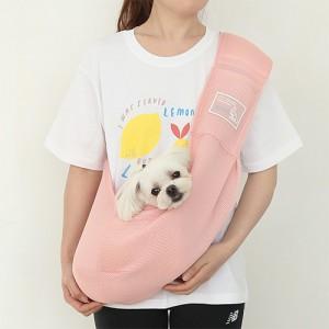 itsdog-[캥거루 메쉬 슬링백 (핑크)]♡寵物散步帶用品
