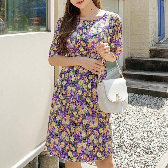 09women-[페나 플라워 원피스 48809]♡韓國女裝連身裙