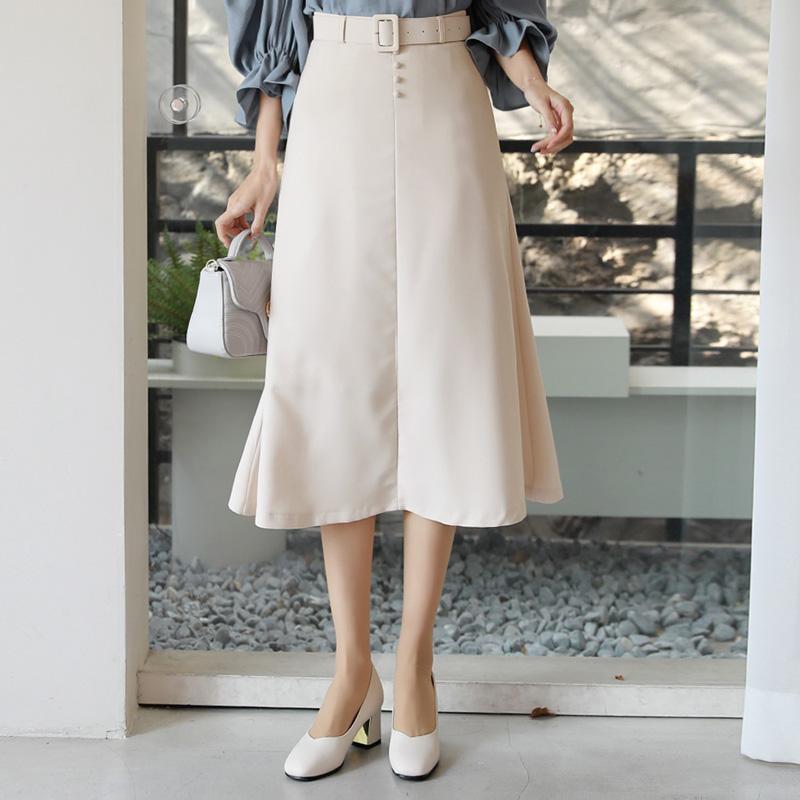 clicknfunny-[아렌 플레어스커트+벨트SET[S,M,L사이즈]]♡韓國女裝裙