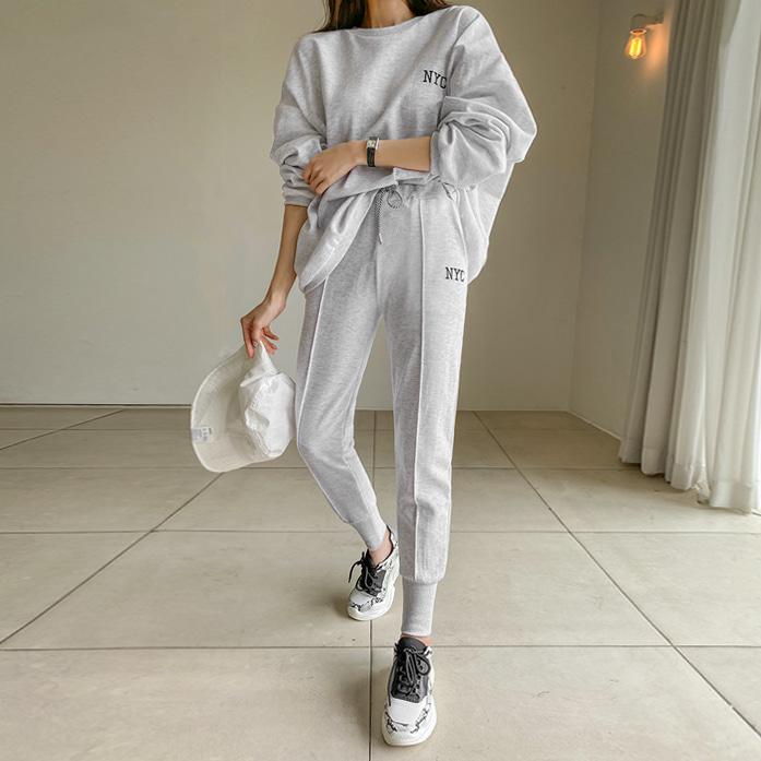 dabagirl-뉴욕조거세트♡韓國女裝套裝