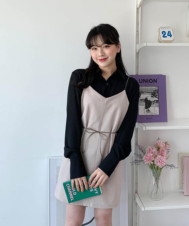 sonyunara-뷔스티에끈원피스♡韓國女裝連身裙
