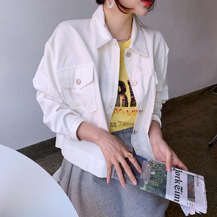 deepny-쇼타크롭자켓 디프니♡韓國女裝外套
