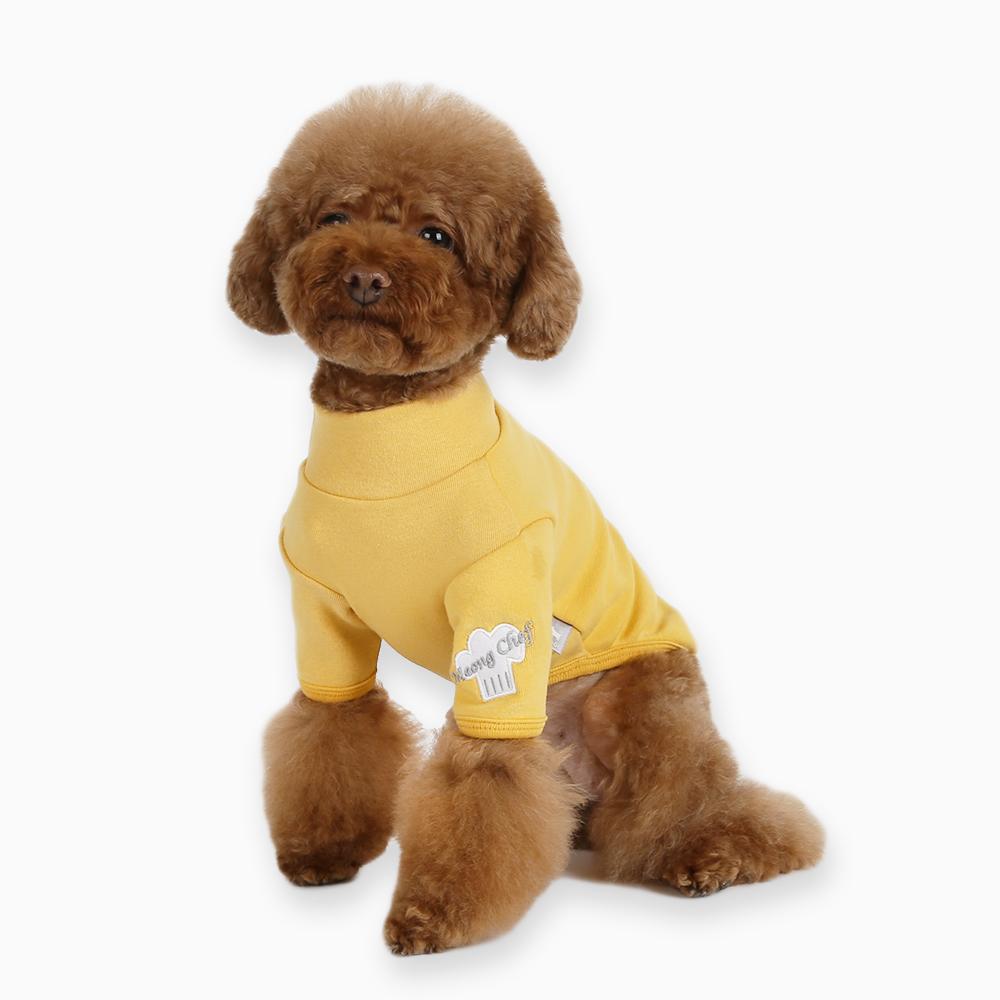 itsdog-[멍 셰프 티셔츠 (옐로우)]♡寵物衫