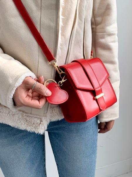 everytail-하트 키링 미니 크로스백 (3color)♡韓國女裝袋