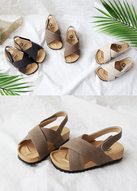 styleggom-○쿨린넨 샌들♡韓國童裝鞋