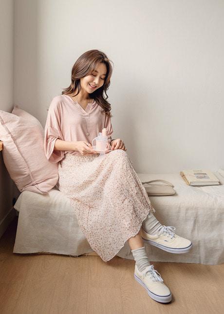 loloten-아텐플라워 쉬폰스커트♡韓國女裝裙