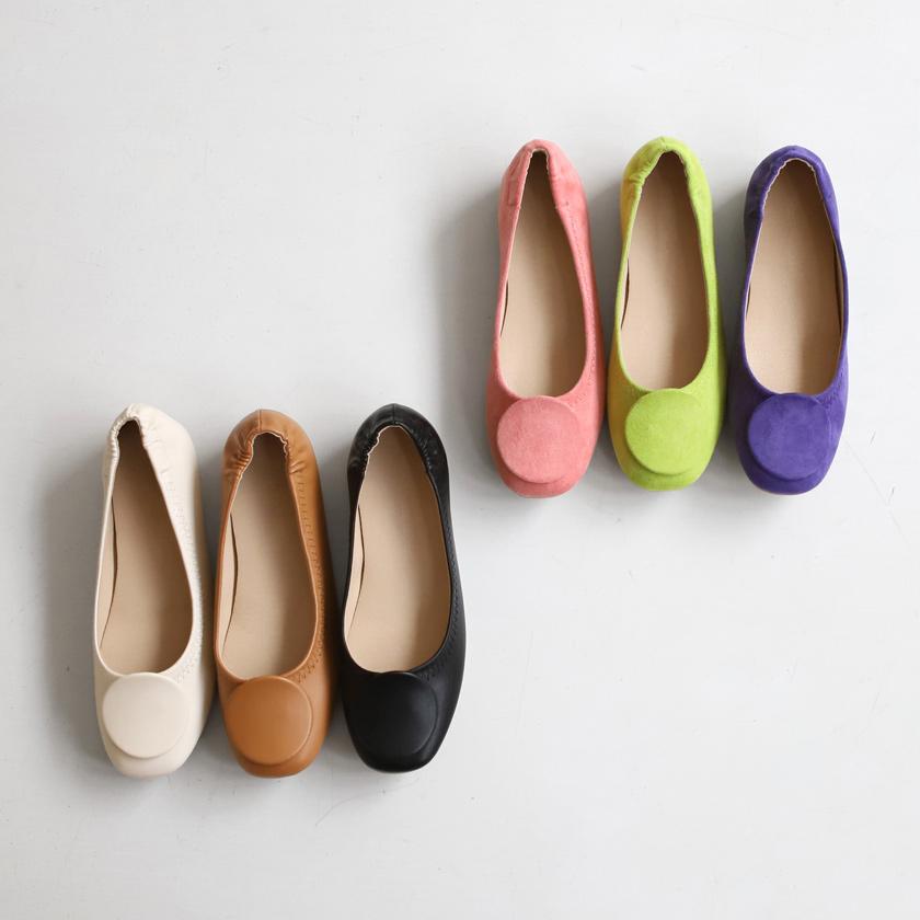 sappun-레브링 라운드 플랫슈즈 (1cm)♡韓國女裝鞋