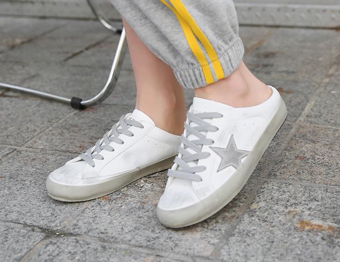 pinksisly-골든 스니커즈 블로퍼♡韓國女裝鞋