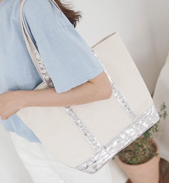 justone-바리브 스팽글 숄더백♡韓國女裝袋