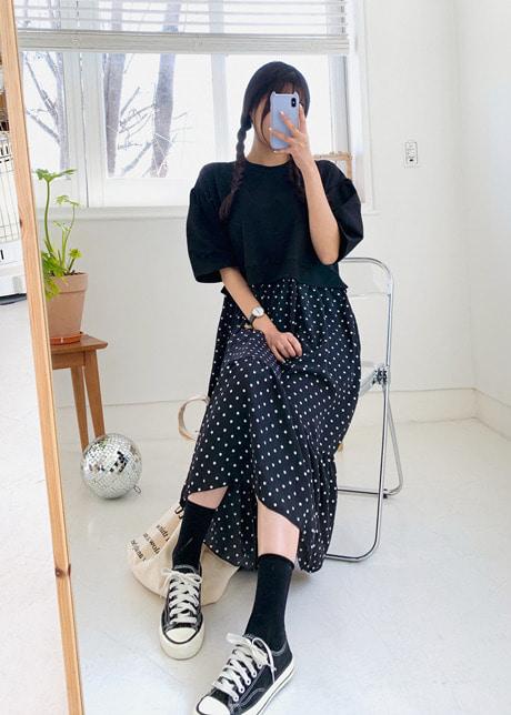 loloten-퍼프도트 원피스♡韓國女裝連身裙