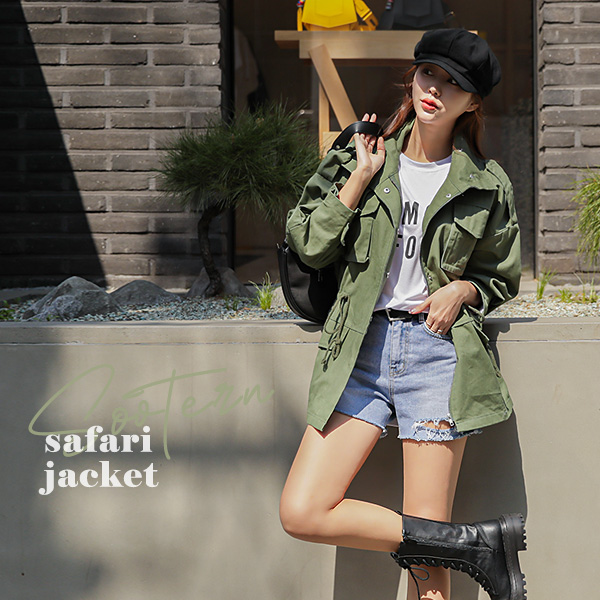 chicfox-슈테른 야상자켓♡韓國女裝外套