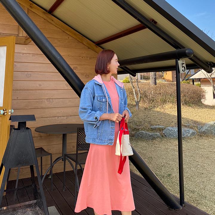 lemite-핑크자수 데님자켓♡韓國女裝外套