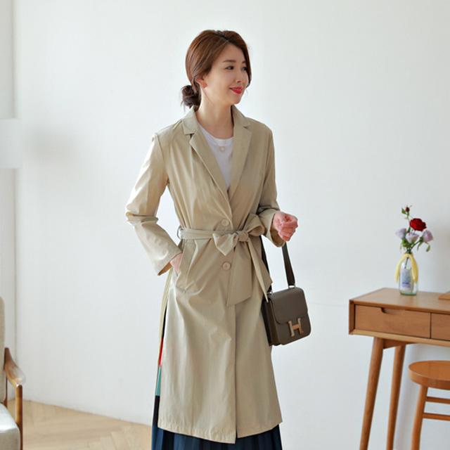 tiramisu-532뒷주름쉬폰바바리♡韓國女裝外套