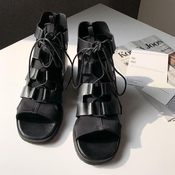 QNIGIRLS-글래디 스트랩워커샌들♡韓國女裝鞋