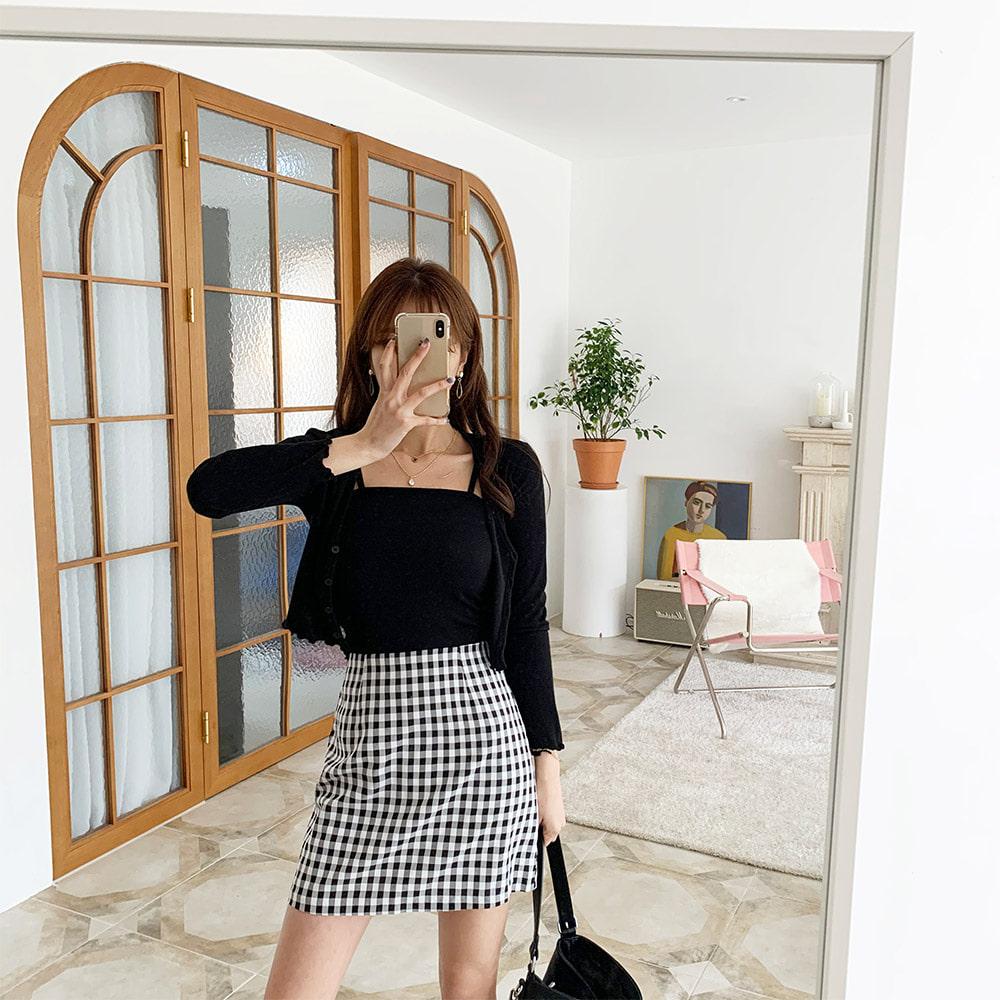 ppgirl-(F748)프릴 가디건세트-set♡韓國女裝套裝