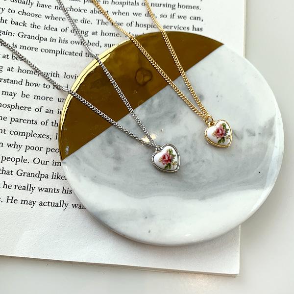 復古陶瓷心型耳環