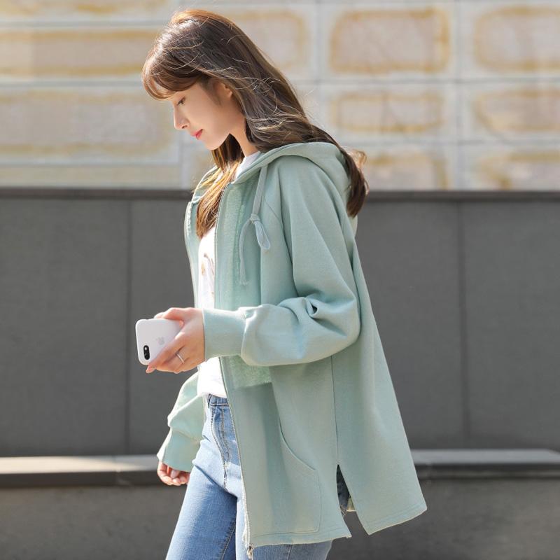 clicknfunny-[늘코튼 후드집업]♡韓國女裝外套