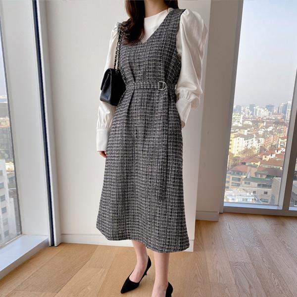benito-오늘만 이 가격 릴린 트위드 원피스 (2color)♡韓國女裝連身裙