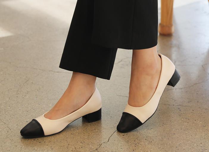 clicknfunny-[소얀 배색펌프스힐]♡韓國女裝鞋