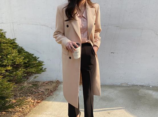 hellosweety-[마이든 더블 롱 자켓]♡韓國女裝外套