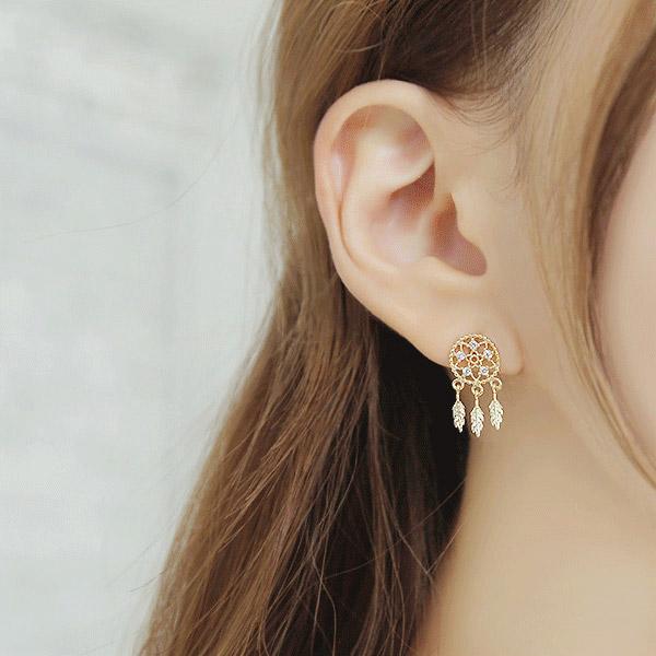 soo-soo-[귀걸이첼린 (16E787) [3color]]♡韓國女裝飾品