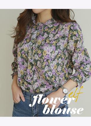 styleberry-[◆new 10% 엘프 플라워 블라우스]♡韓國女裝上衣