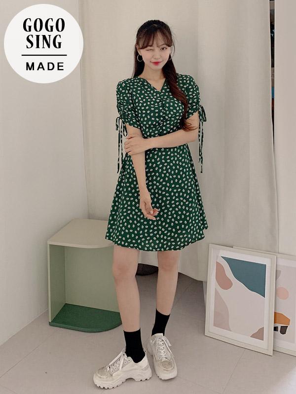 法式墨綠色連身裙(長/短款)