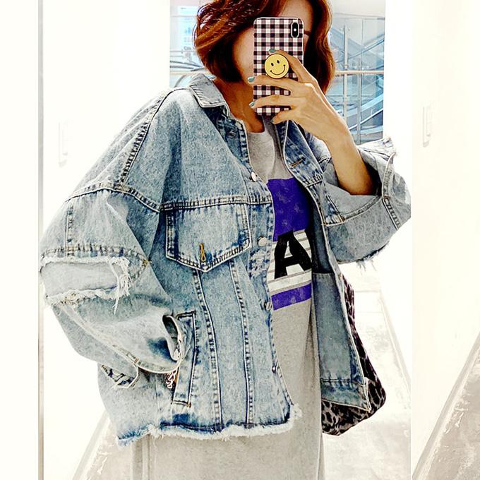 wingsmall-헤든(커팅헤짐데님JK)♡韓國女裝外套