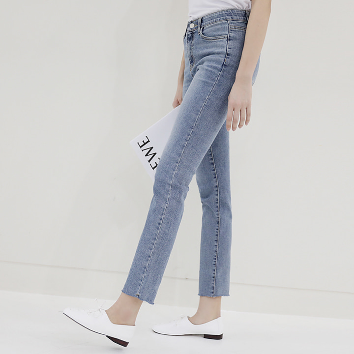 lemite-길쭉일자 데님팬츠♡韓國女裝褲