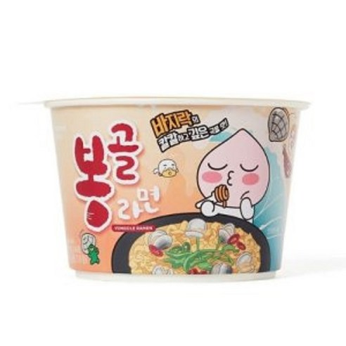 KAKAO FRIENDS♥APEACH蜆肉味碗裝寬拉麵