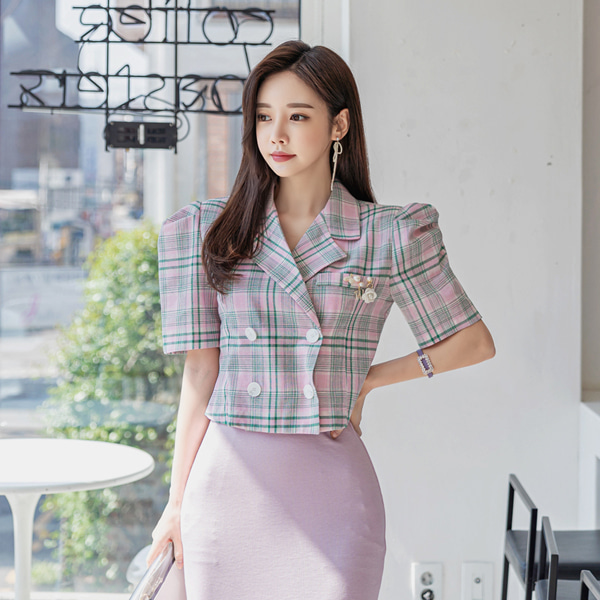 babinpumkin-네스트 체크 자켓♡韓國女裝外套