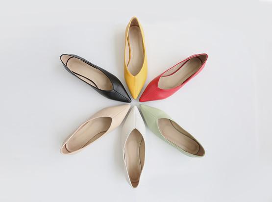hellosweety-[모아스 스틸레토 플랫 (2cm)]♡韓國女裝鞋
