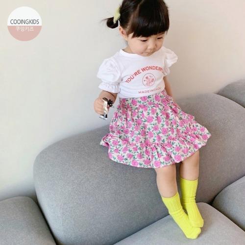 cooingkids-C프릴꽃스커트 아기치마 유아스커트 예쁜 여자 아기옷♡韓國女童裙子
